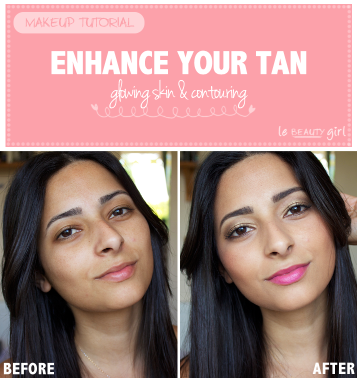 Enhance Your Tan: Glowing Skin &#038; Contouring (Makeup Tutorial)