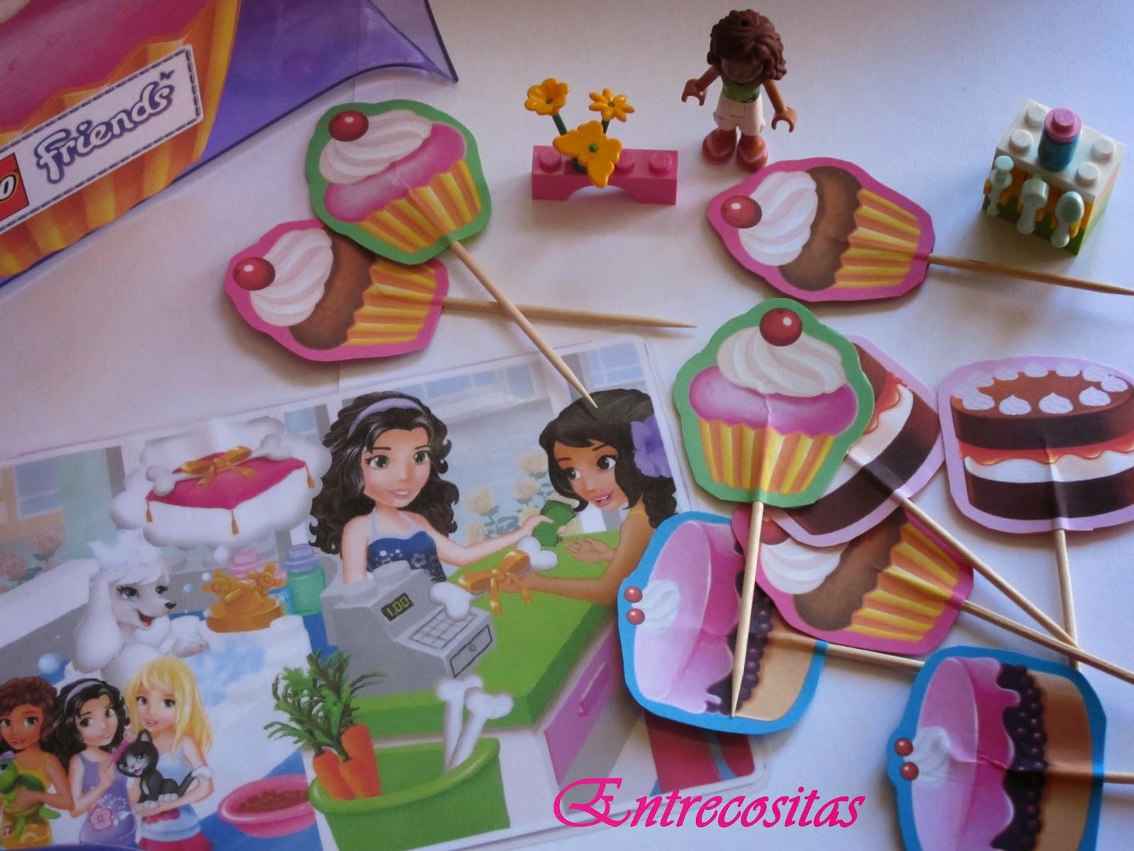 Accesorios para fiesta de cumplea os de lego friends - Fiesta sorpresa de cumpleanos para nina ...