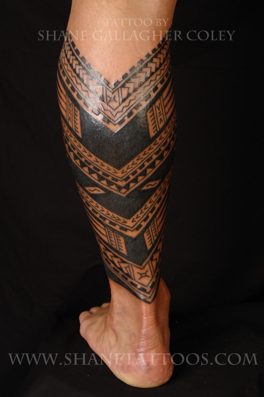Samoan Calf Tattoo