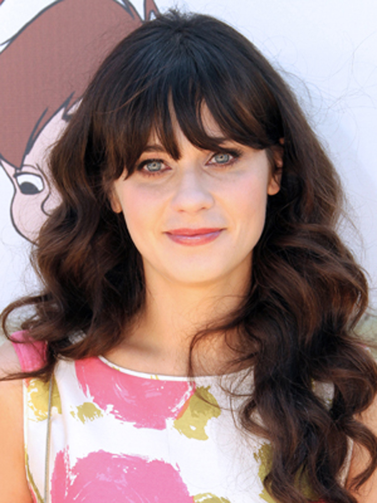 Popular Celebrity Curly Hairstyles Zooey Deschanel