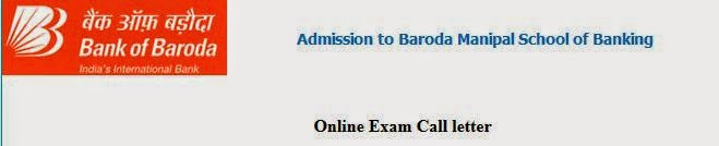 Bank Of Baroda Call Letter Download 2014