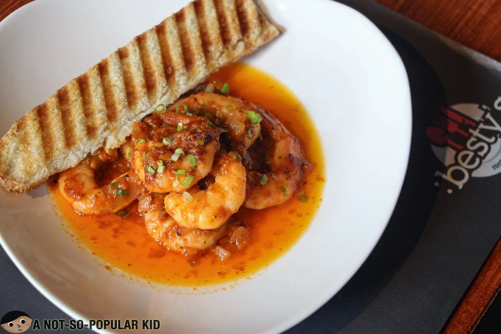 Besty's Restaurant - Shrimp Aligue - guilty pleasures from shrimp and crab fat