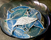 Blue Leaves - Place cards, escort cards, wishing tree Decoration - Events - Weddings - Home - Holidays