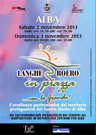 l'eccellenza gastronomica nel centro storico di alba 2 e 3 novembre 2013