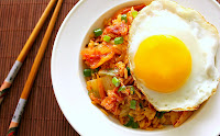 Kimchi Fried Rice with Bacon