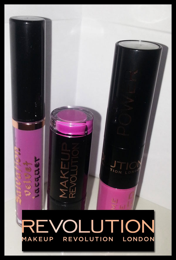 Makeup Revolution - Salvation Velvet Lip Lacquer, Keep Lying For You - Scandalous Lipstick, Crime - Lip Power, Life Is What You Make It