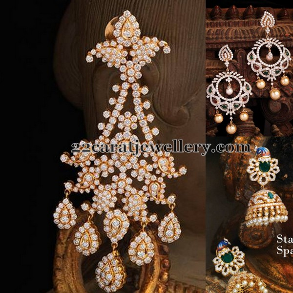 Diamond Hangings by Navaratan Jewels