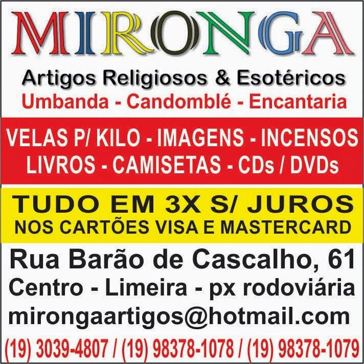 MIRONGA - Sua casa de artigos de Umbanda e Candomblé em Limeira