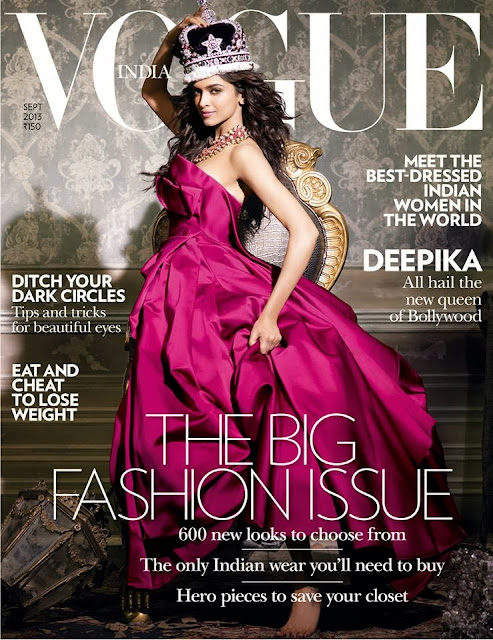 Deepika-Padukone-Vogue India-Magazine-Cover-September-2013