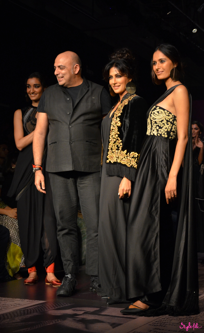 Bollywood actress Chitrangada Singh plays the showstopper for designer Tarun Tahiliani presented by Reliance Trends at Lakme Fashion Week Winter Festive 2015 - 16