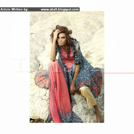 LALA Classic Crinkle Embroidered Lawn for summer 2015