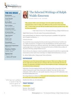 book review, book summary, Ralph Waldo Emerson,