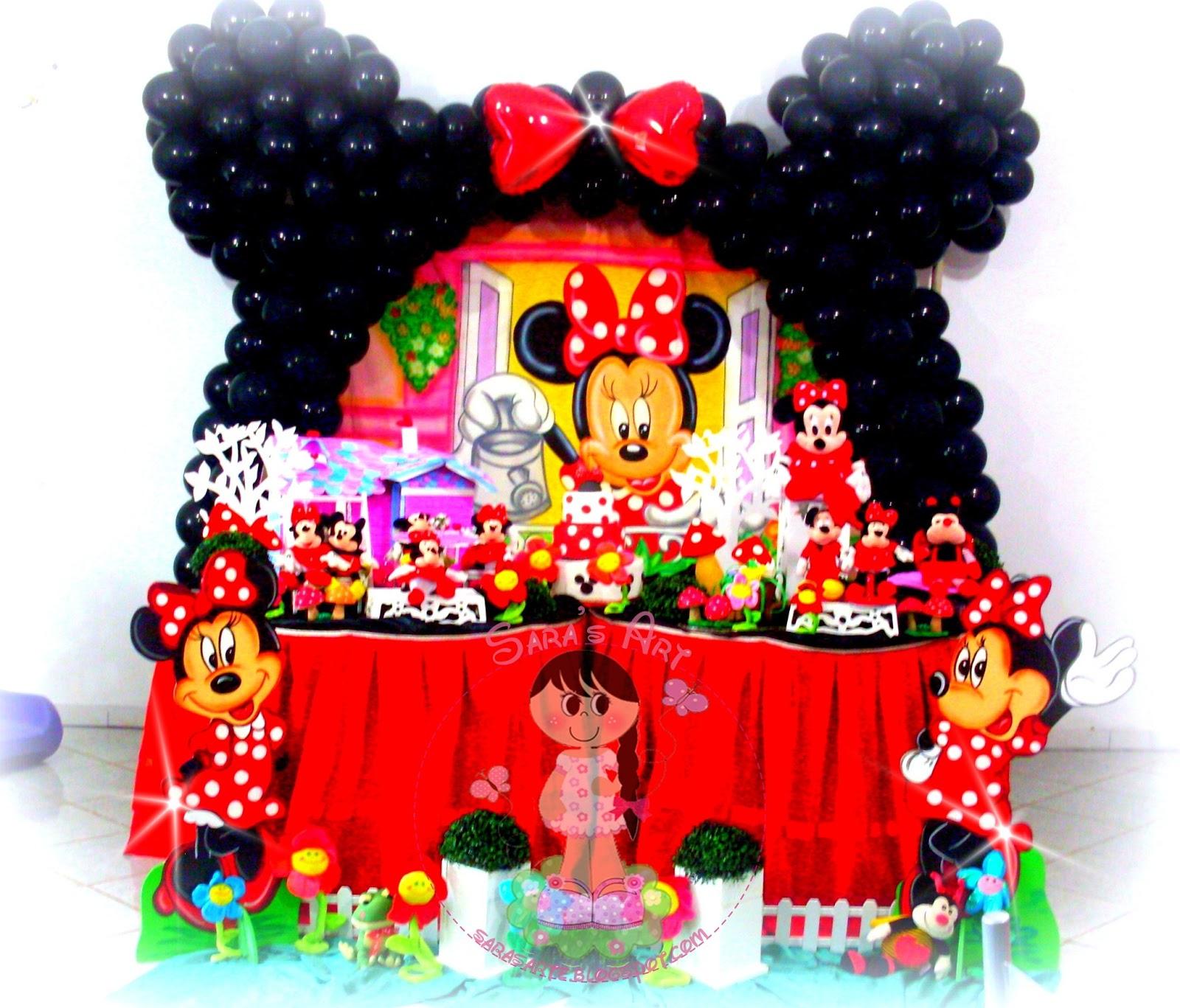 Fazendo arte Decoração Minnie Vermelha