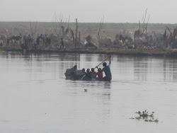Canoeing Across the Bahr el Jebel River, Bor Town, Jonglei