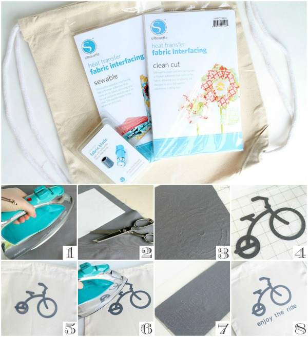 Learn how to easily cut fabric to create this adorable Kid's Drawstring Bag! LoveGrowsWild.com
