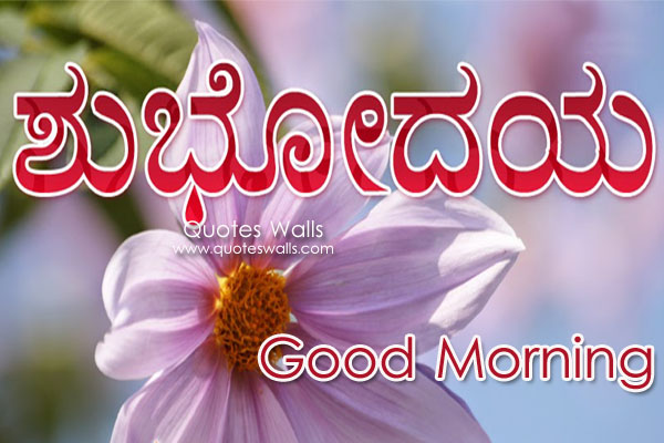 Lovely Kannada Good Morning Wishes Sms Greeting Pictures | Quotes ...