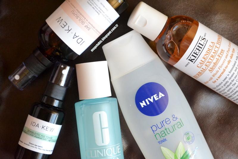 Cilt Bakımı | Skin Care Toner IDA.KEW, Clinique Anti Blemish, Nivea Pure&Natural, Kiehl's Calendula