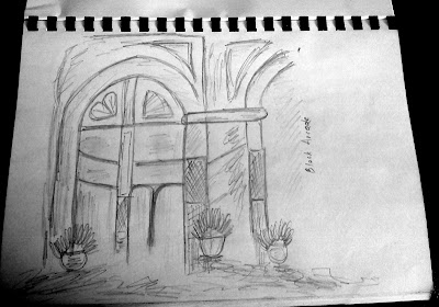 Block Arcade Pencil Sketch, Melbourne