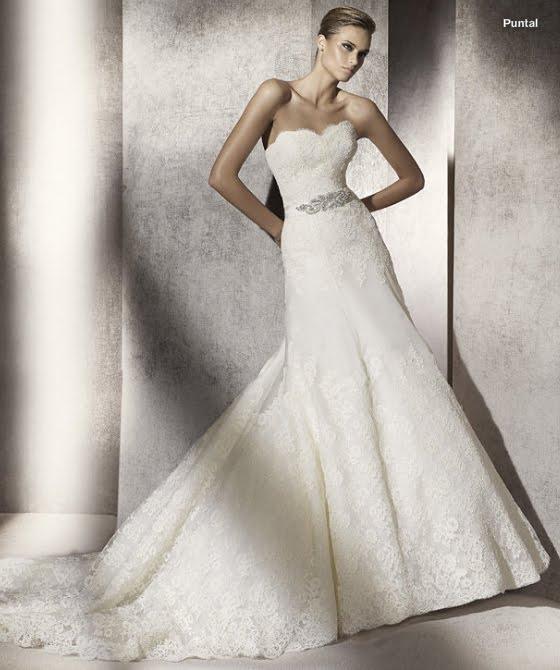 todo sobre bodas: vestido de novia puntal pronovias 2012 manuel mota