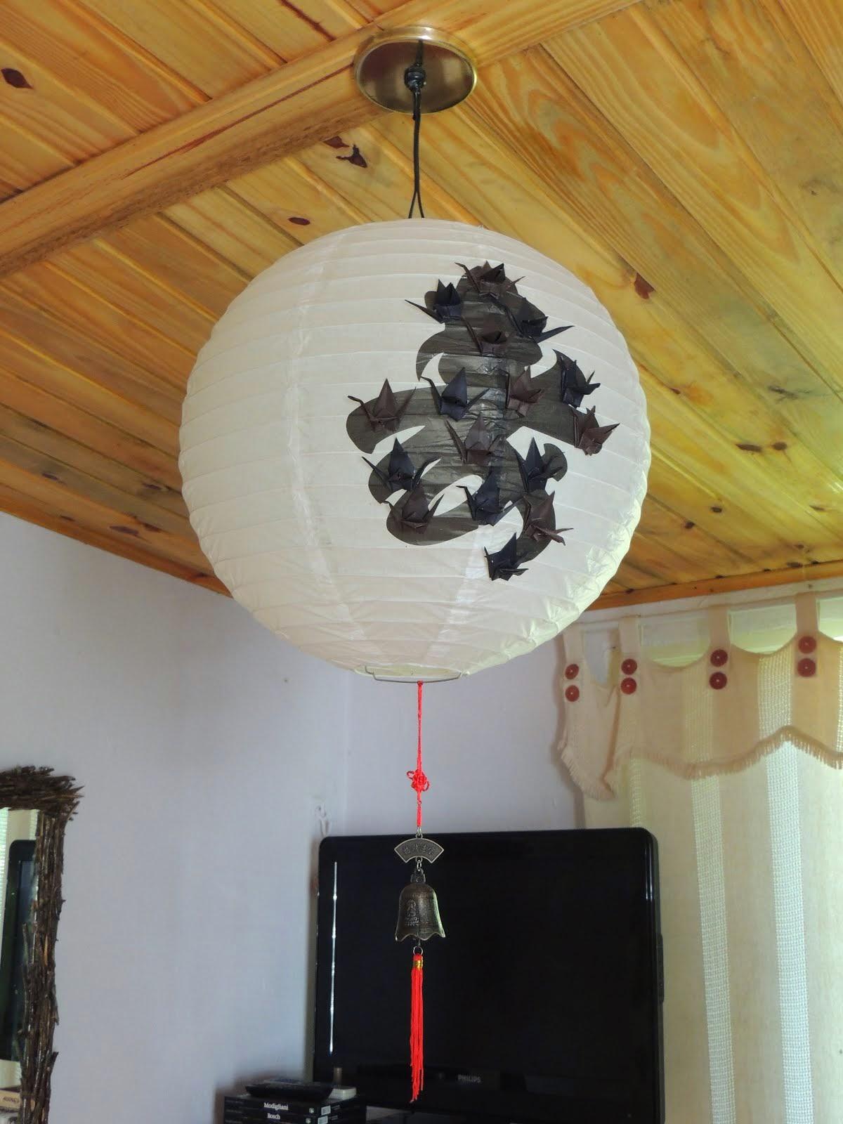 Luminária Chinesa com Tsurú