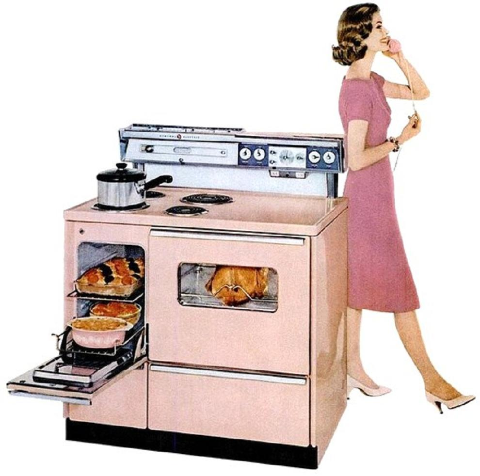 Antique General Electric Range Stoves ~ Farm girl pink then i saw a little bit of heaven