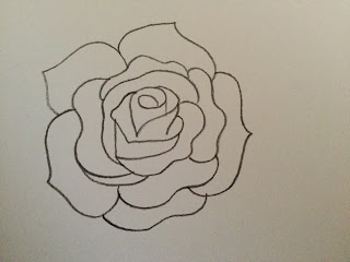 merinal brunda how to draw a rose