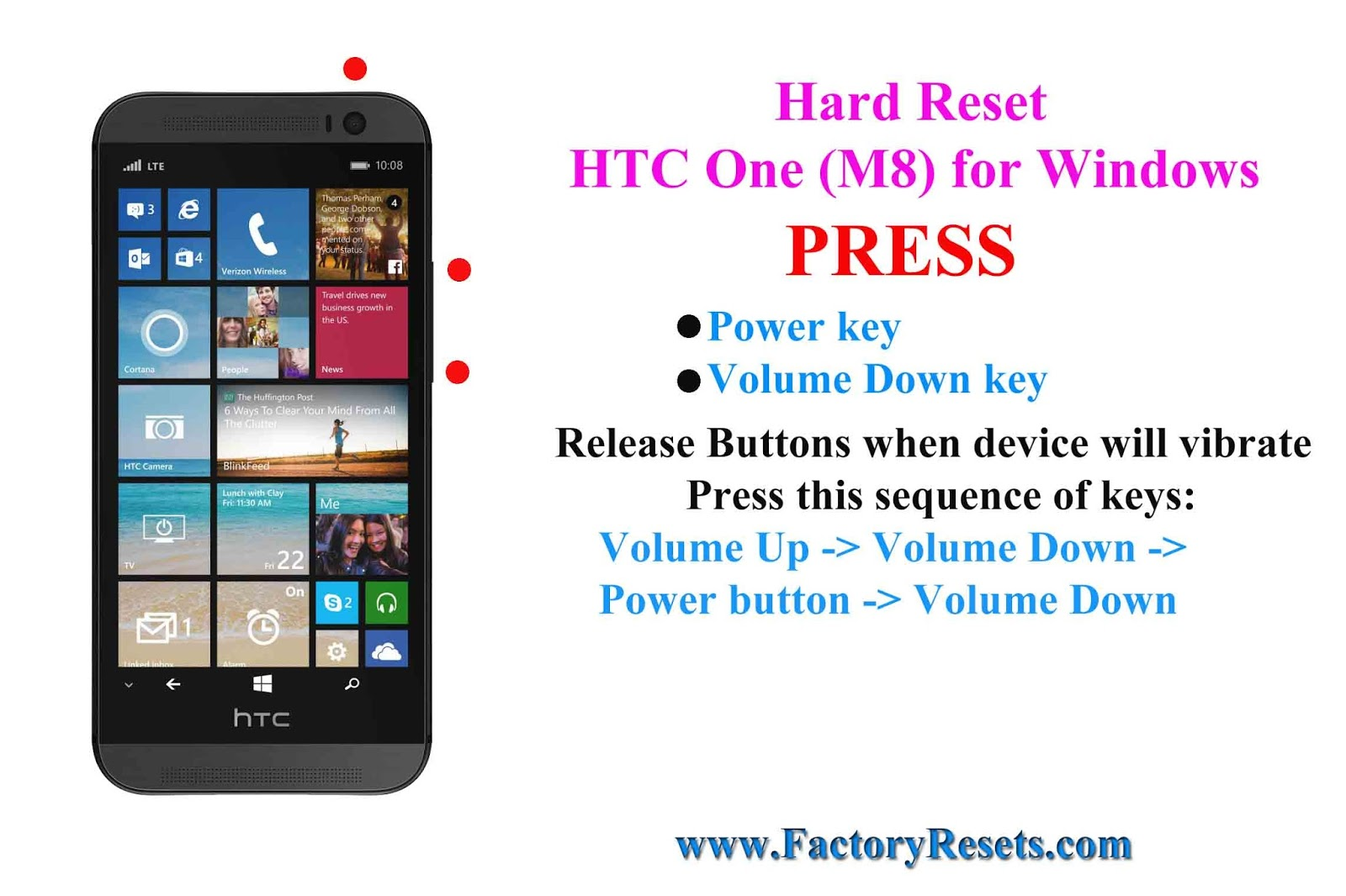 how to reset htc one to factory settings