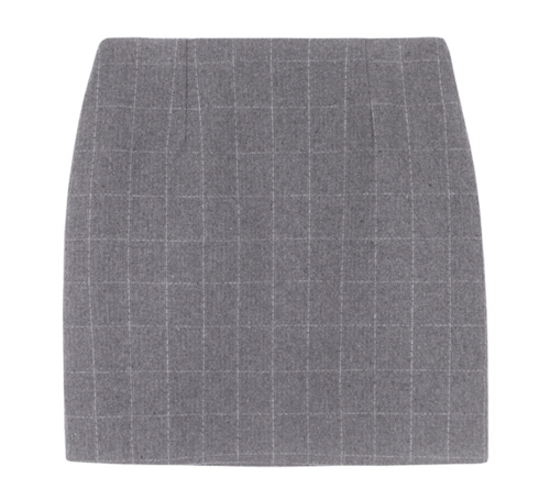 Graph Check Mini Skirt