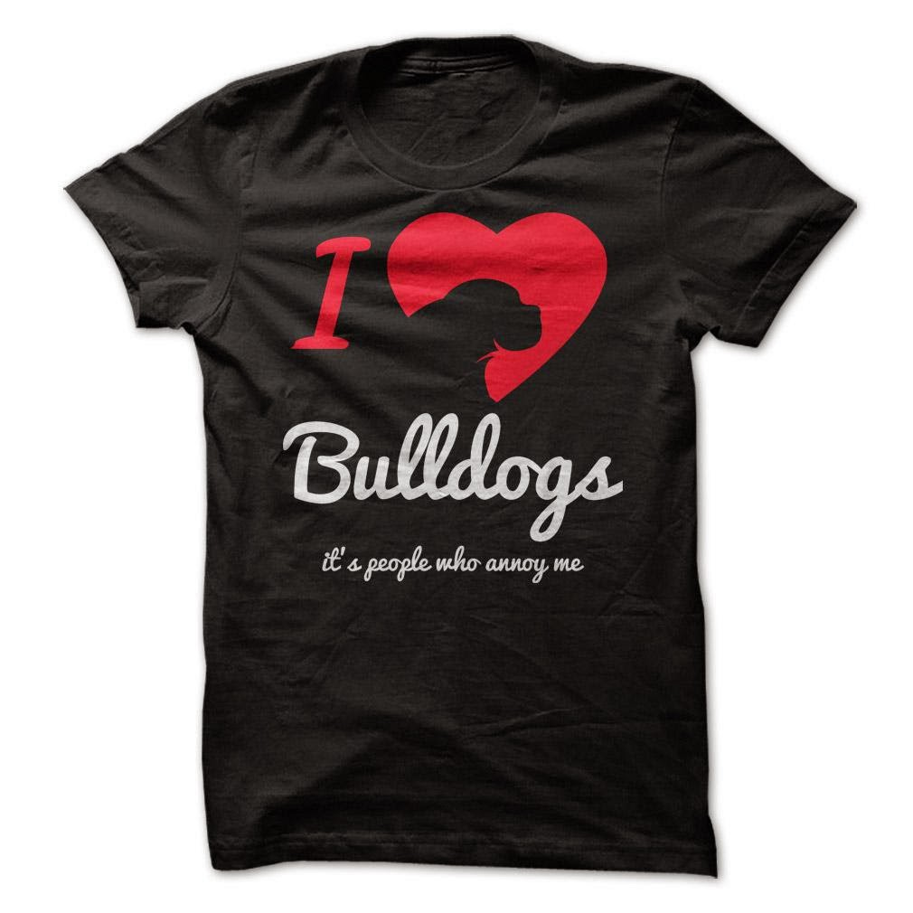 I Love Bulldogs Tee T shirt