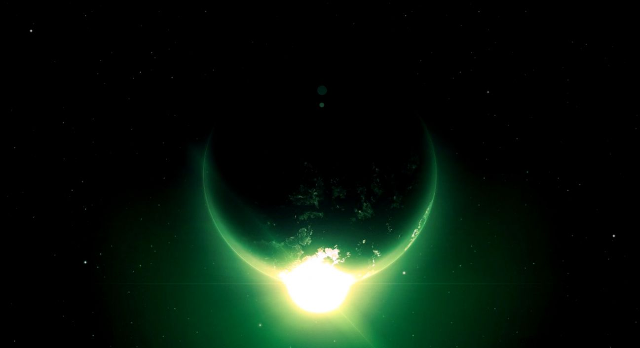 Green Planet in Space Wallpaper HD For Desktop High Quality