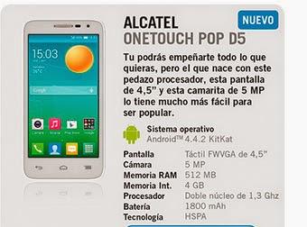 Alcatel One Touch Pop D5 con Yoigo - Precios y características