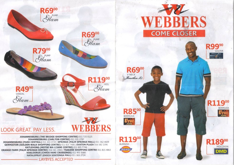 Webber clothing store in south africa