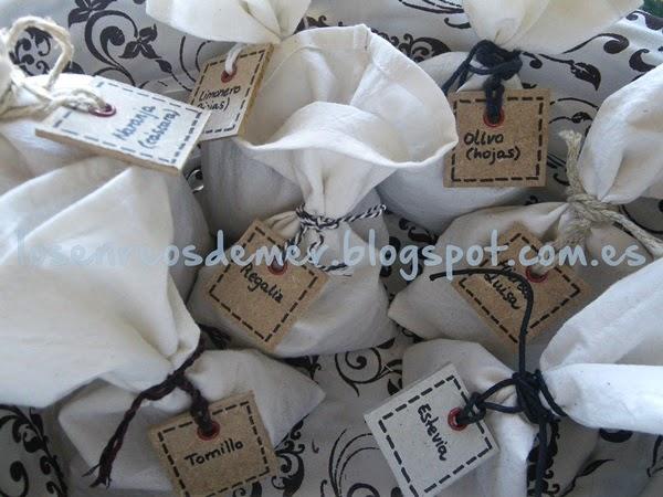Bolsitas de tela para condimentos y hierbas aromáticas