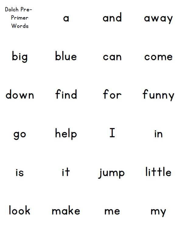 dolch sight word list pdf