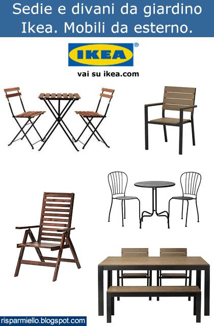Risparmiello tavoli e sedie da giardino ikea for Mobili da esterno ikea