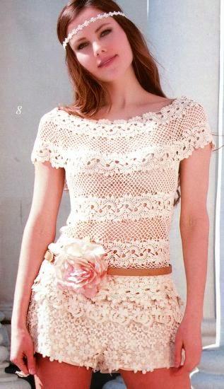 Vestido crochet moderno