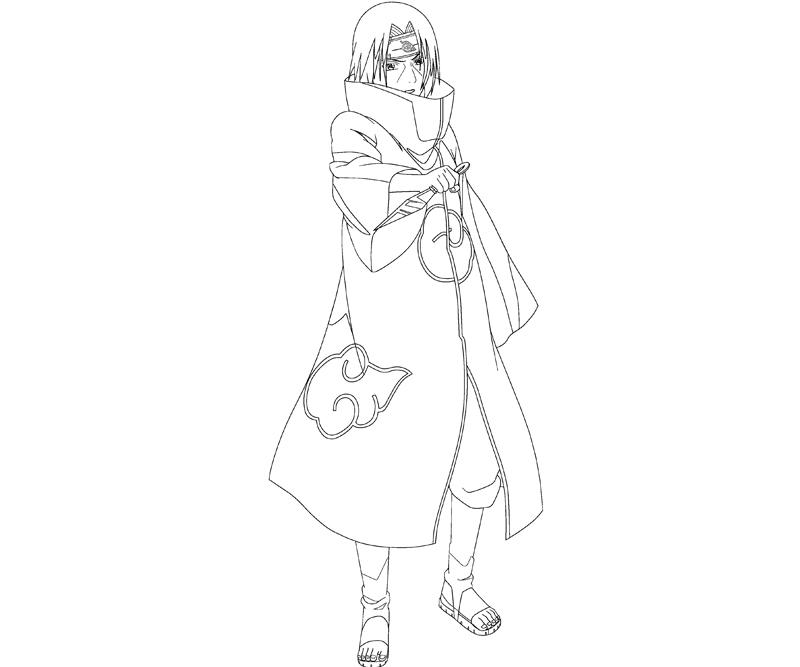 Itachi Free Coloring Pages Itachi Coloring Pages
