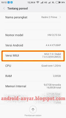 Manual MIUI 7 Xiaomi Redmi 2 Prime