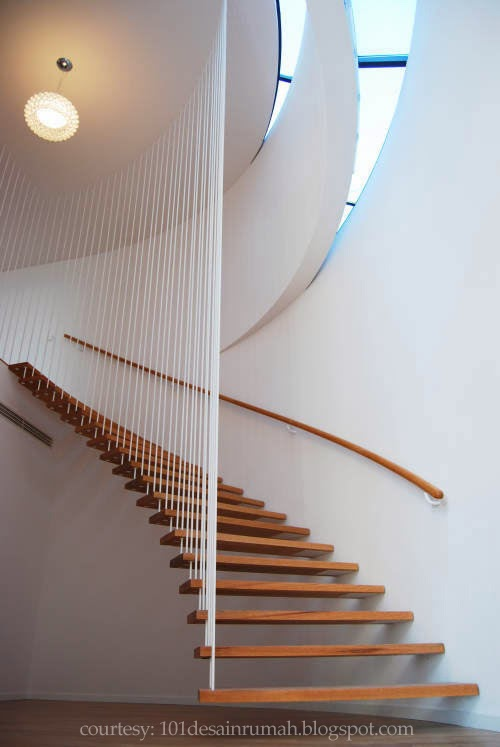 desain rumah ideal 20 desain tangga minimalis dan modern 2