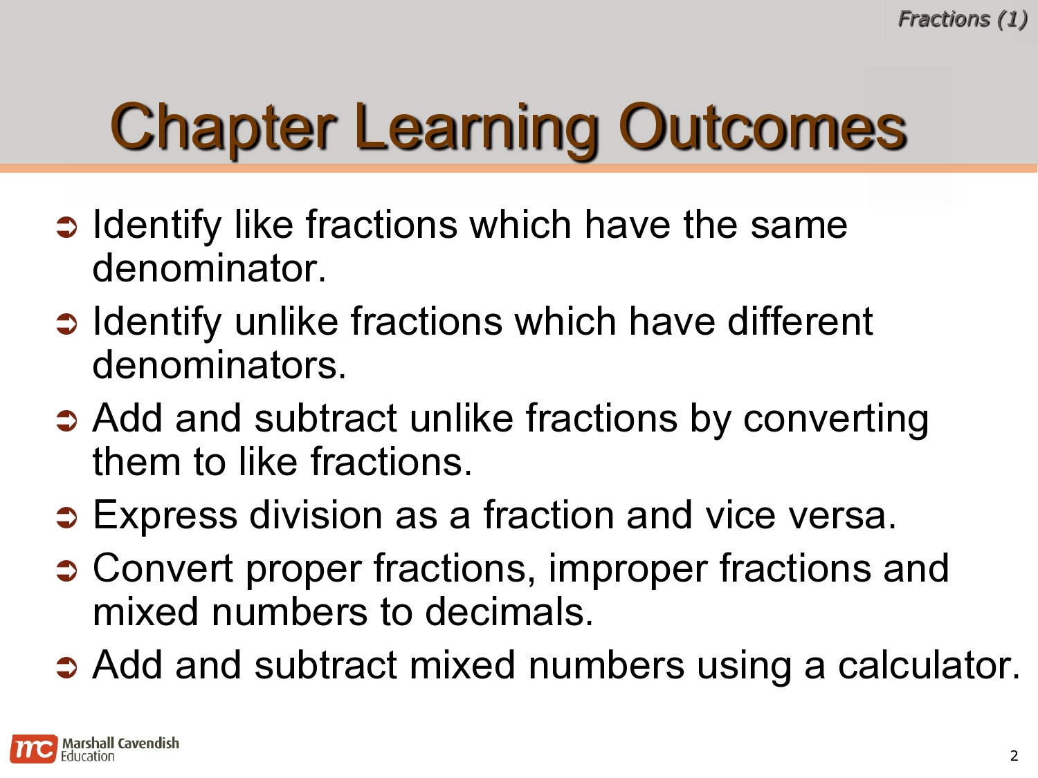 EDP 2013 Primary 6 Fabulous: Math Revision Notes: Fractions (1)