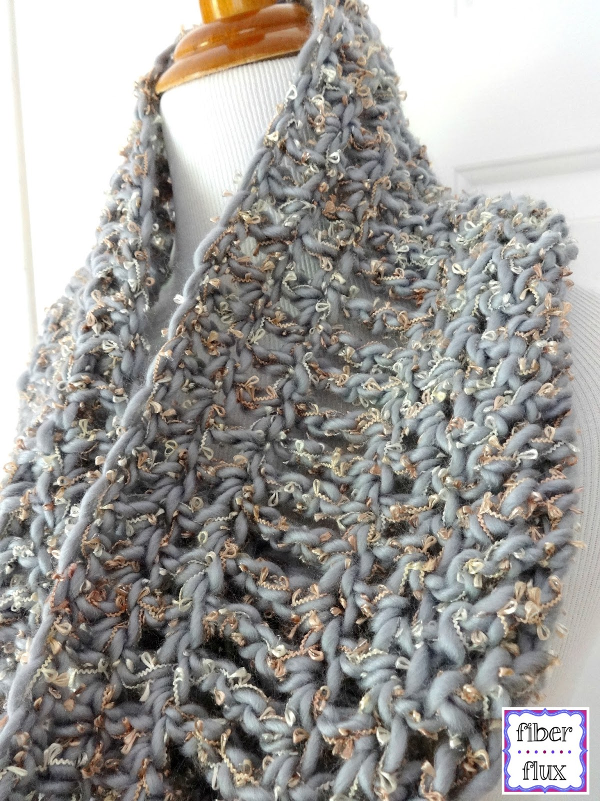 Free Crochet Patterns Cowls : Fiber Flux: Free Crochet Pattern...Platinum Cowl!