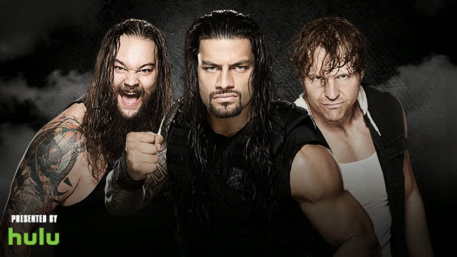 WWE - ROYAL RUMBLE 2015 - Rumble match participants Bray Wyatt, Roman Reigns, Dean Ambrose