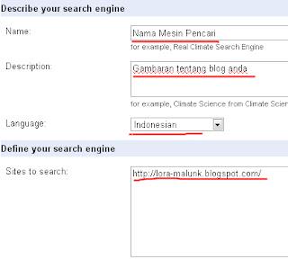 Definisi Google Custom