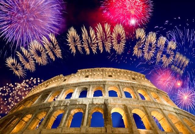 fuochi d'artificio al Colosseo per capodanno 2015