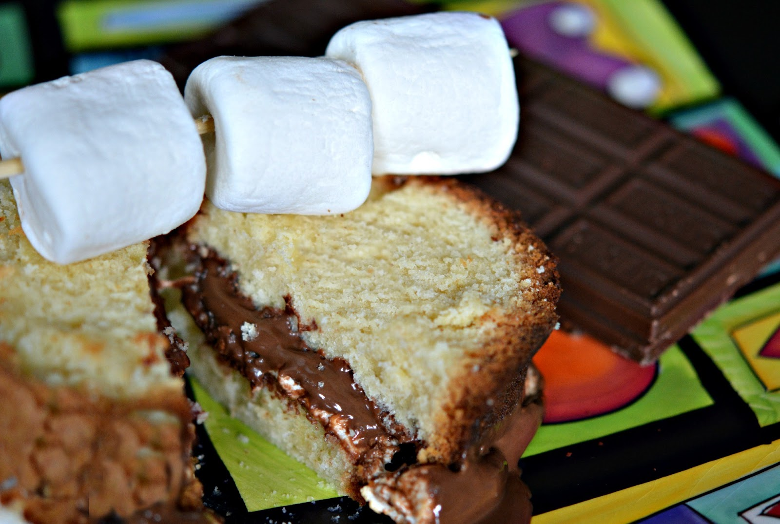 bounty chocolate: S'MORES CREAM CHEESE POUND CAKE