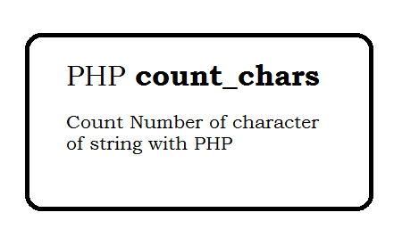 count_chars - Count Number of character of string with PHP