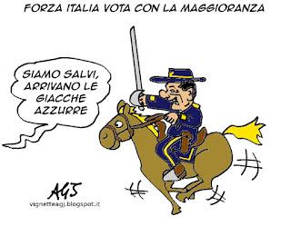 Forza Italia, riforme, presidente della Repubblica, vignetta satira