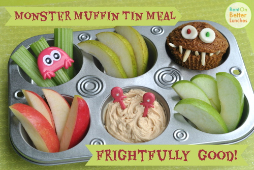 Monster Muffin Tin Meal by BentOnBetterLunches