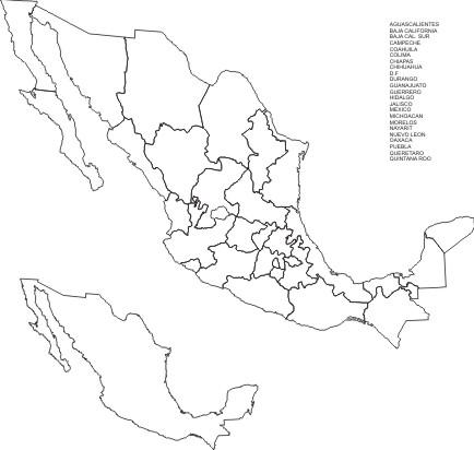 CULTURA MISCELANEAS IMAGENES DIBUJOS: DIBUJOS DEL MAPA DE MEXICO