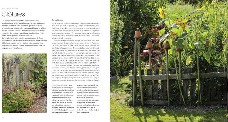 D co fait main livre jardin vintage un art de vivre for Recup palette jardin